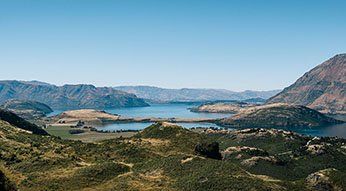 View on the drive from Queenstown to Wanaka